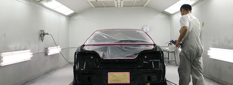 車のオールペン(オールペイント)の塗料と整った塗装環境
